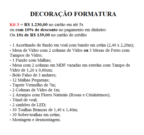 Kit 3 Form