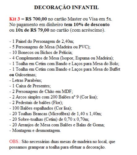 Kit 3 Inf