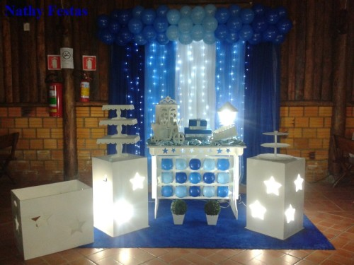 Tons de Azul com LED