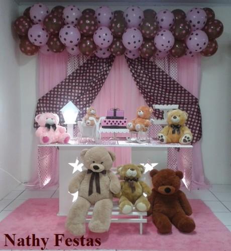 Rosa e Marrom (Ursos) Kit Básico