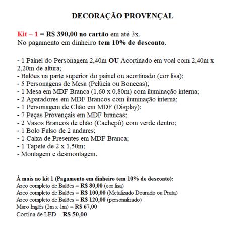 Kit 1 Prov